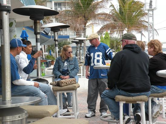 There were some Colts fans also at the Tiki Bar before the Big Game!