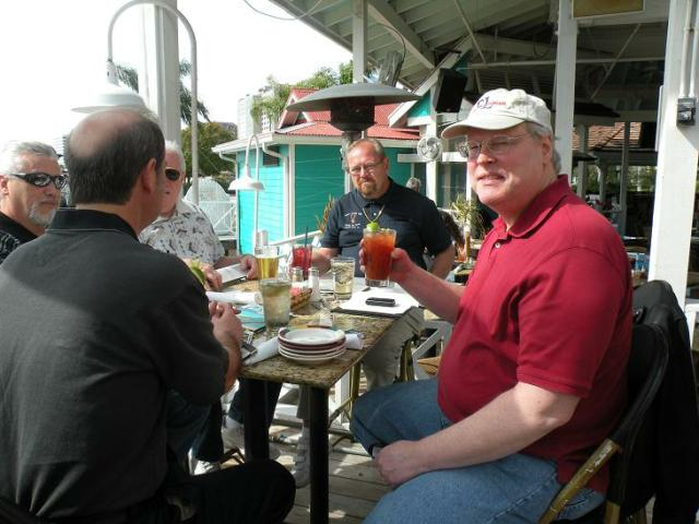 The next 3 photos were taken Thursday, Feb 4, at another fave spot, Bahama Breeze in Tampa the day that Dougie, R. B., and Joebo arrived.