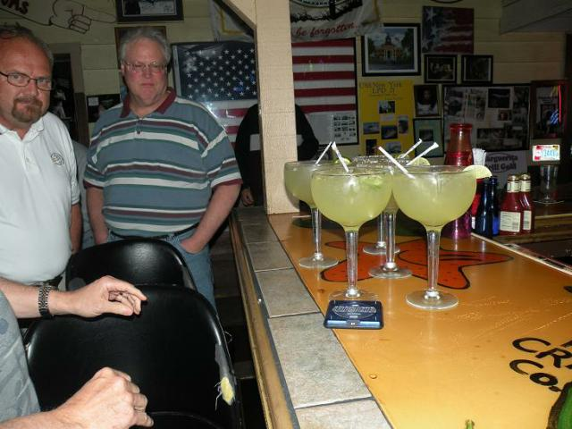 These margaritas are of the MEDIUM size at the Margaritagrille in Homosassa.
