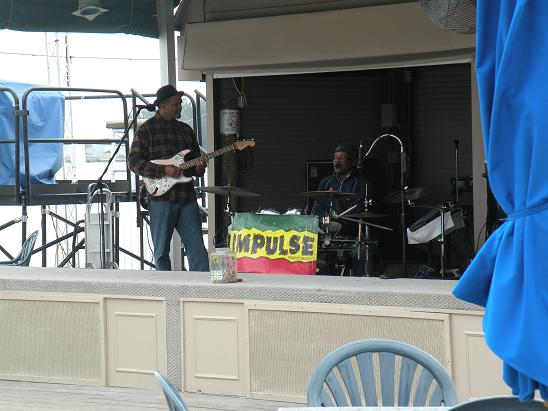 There was a reggae band playing out on the deck at the Tiki Bar at Shephard's where we were staying.