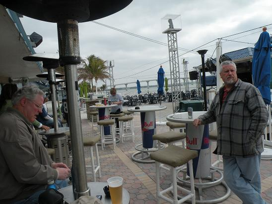 Another shot at the Tiki Bar. It was a little cool but...NO SNOW!