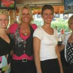 "HERE WE HAVE WHAT WE CALL ""GALAXY'S ANGELS"". THEY ARE (L-R) AMANDA, DARLA, SHELLY, AND MICHELLE. THESE LOVLIES TEND TO THE PATIO BAR AT THE GALAXY DURING THE SUMMER MONTHS. ONE OF OUR FAVE STOPS."