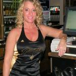 THIS IS TRICIA ONE OF OUR FAVE BARTENDERS AT LEGENDS SPORTS PUB IN GREEN. SHE WAS ONE OF OUR FIRST BARTENDERS OF THE MONTH FOR DECEMBER 2005 . SHE ALWAYS WEARS A CAVS JERSEY ON THE NITES THAT THE CAVS PLAY.