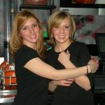HERE ARE LAUREN (L) AND LISA. TWO OF OUR FAVE BARTENDERS AT SCORCHERS (NOW TAP HOUSE). LAUREN HAS SINCE MOVED ON, AND LISA IS DOWN IN CLOUMBUS AT OHIO STATE. WE MISS THEM.