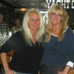 HERE IS VICKI (L), AND KAREN AT DUSTY'S YACHT CLUB ON PORTAGE LAKES. THIS WAS A SPECIAL EVENT. IT WAS VICKI'S B-DAY CELEBRATION, AND ALSO A SEX TRIVIA CONTEST.