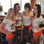 On our way out I took a  pic of some Hooters Girls gettign ready to start their shift. Check out thier name tags.