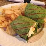 This is S. B.'s Veggie Wrap. It looks good, but they put  Feta Cheese in it, and Feta Cheese doesn't like ME.