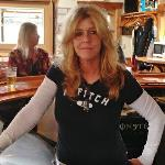 This is Karen. She is not a bartender at KOB's. She is a bartender at Dusyt's Yacht Club on Portage Lakes.  The reason I took this pic is because I was at Dusty's, but I was supposed to be at KOB's. Hey, I'm a Geezer!  Karen was not too happy about it!