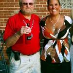 Here I am with Tammy back in  2007 out on Portage Lakes at a place no longer there  called Hook Line & Drinkers.  She was working for a radio station called Rock 106.9.  They were there for Bikers Nite!