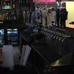 This is a picture of the taps  at one side of the bar.  Ray's does have a large variety of imported beers on tap.
