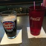 We were at Legends Sports Pub & Grille on Wednesday, May 20th, and for some reason I was very thirsty all day long. So when I ordered  a draft Guinness to drink I also ordered a glass of water. These were how my drinks looked on the bar.