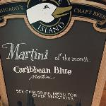 He dissed the Caribbean Blue  Martini for a real man's drink!