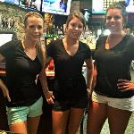 Here is Raquel again with our other two bartenders.  From L-R  are Raquel, Hayley, and Kailey. They took good  care of us while we were there.