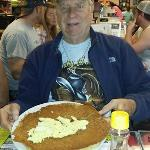 Here is The Jerry, of Jerry's Corner, at Tami's Country Kitchen in Dade City, Florida just having ONE Pancake for breakfast.