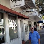 This picture was sent anonymously by someone who believes that it may be  our long lost Geezer, the Candyman.  It may be coincidental that he  is standing in front of a  restaurant called Virgilio's?