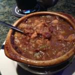 This was a bowl of Chicken & Sausage Gumbo that I ordered off of JJ's Mardi Gras Menu. It was excellent!