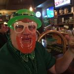 Here is Spike again wearing a scary St. Patty's Day mask. Krisko gave us one of these last year that she wore.