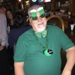 Here is Spike wearing a pair of St. Patty's green Beer goggles.