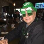 Here is Drumstire wearing the hat and Beer Goggles that I brought in my Green Bag. I  accumulate St Patty's Day  goodies, and bring them every year for all to enjoy!