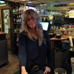 One of our fave bartenders, Karen. She knows us all and how to treat us!