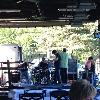 The band EVERYDAY AMERICA setting up for the evening performance.