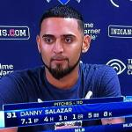 Danny Salazar had another great pitching performance for 7.1 innings giving up only  4 hits, and 1 run with 8 strikeouts!
