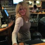 Here is Karen, one of the bartenders at Dusty's, and one of our faves.