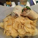 This was my (Joebo) healthy wrap. It was the Turkey Club Wrap with chips. (I didn't have Fries with that!)