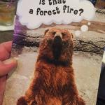 "Here is the card that Fergie got for me. It looks like a card that  he should have given to S. B., but he is no longer the  ""Dancing Bear""!"