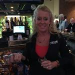 And here she is, Tricia. One  of our fave bartenders not only at Legends. She was voted the #1 Bartender at  the Beacon Journal's Best  Contest last year. #2 this year.