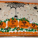 Here is the Annual Halloween cake furnished by Big Daddy, and Barb Minier! A good time was had by all!
