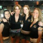 "Here are our bartenders for the evening shift. From (L-R) are Amanda, Kirsten, ?, and Cynthia.  I apologize to ""Second From Right"". Just too many names to remember."