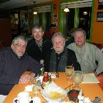 This is a photo taken the last time that the four of us were together in 2011 at a Mexican restaurant in Wadsworth called Casa Del Rio.  L-R are Rodney Mishler, Jon Hopkins, Buzz Cincurak, and Ronnie.  Little did we know then of the short time that Ronnie had left on this Earth!